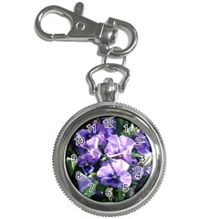 Purple Pansies Key Chain Watches