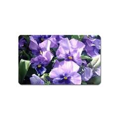 Purple Pansies Magnet (Name Card)