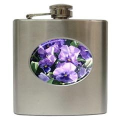 Purple Pansies Hip Flask (6 oz)