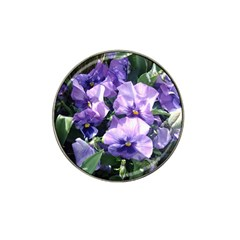 Purple Pansies Hat Clip Ball Marker