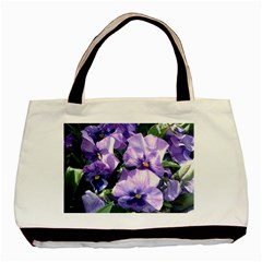 Purple Pansies Basic Tote Bag