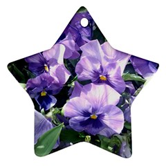 Purple Pansies Star Ornament (Two Sides)
