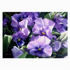 Purple Pansies Large Glasses Cloth (2-Side)