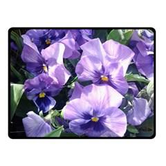 Purple Pansies Fleece Blanket (Small)