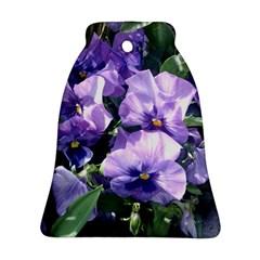 Purple Pansies Ornament (Bell)