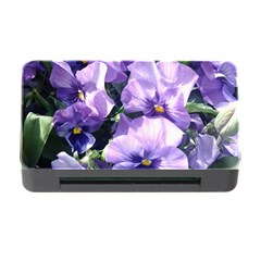 Purple Pansies Memory Card Reader with CF