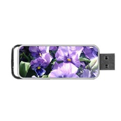 Purple Pansies Portable USB Flash (One Side)