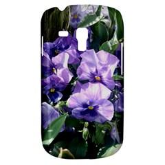 Purple Pansies Galaxy S3 Mini