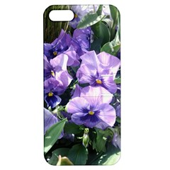 Purple Pansies Apple iPhone 5 Hardshell Case with Stand