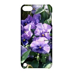 Purple Pansies Apple iPod Touch 5 Hardshell Case with Stand