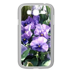 Purple Pansies Samsung Galaxy Grand DUOS I9082 Case (White)