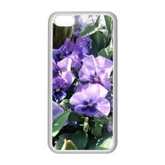 Purple Pansies Apple iPhone 5C Seamless Case (White)