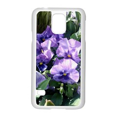 Purple Pansies Samsung Galaxy S5 Case (White)