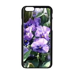 Purple Pansies Apple Iphone 6/6s Black Enamel Case