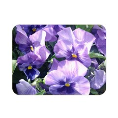 Purple Pansies Double Sided Flano Blanket (Mini)