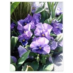 Purple Pansies Drawstring Bag (Large)