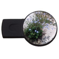 Purple Flowers On Boise River USB Flash Drive Round (4 GB)