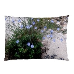 Purple Flowers On Boise River Pillow Case