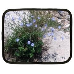 Purple Flowers On Boise River Netbook Case (XXL)