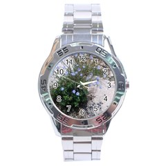 Purple Flowers On Boise River Stainless Steel Analogue Watch