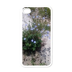 Purple Flowers On Boise River Apple iPhone 4 Case (White)