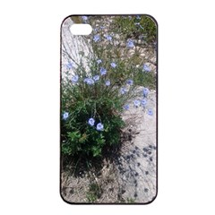 Purple Flowers On Boise River Apple iPhone 4/4s Seamless Case (Black)