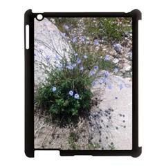 Purple Flowers On Boise River Apple iPad 3/4 Case (Black)
