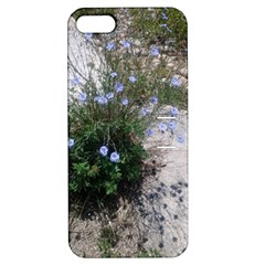 Purple Flowers On Boise River Apple iPhone 5 Hardshell Case with Stand