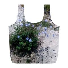 Purple Flowers On Boise River Full Print Recycle Bags (L)