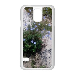 Purple Flowers On Boise River Samsung Galaxy S5 Case (White)