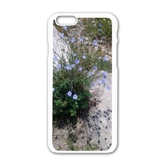 Purple Flowers On Boise River Apple iPhone 6/6S White Enamel Case