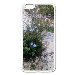 Purple Flowers On Boise River Apple iPhone 6 Plus/6S Plus Enamel White Case