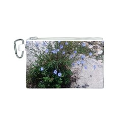 Purple Flowers On Boise River Canvas Cosmetic Bag (S)