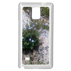 Purple Flowers On Boise River Samsung Galaxy Note 4 Case (White)