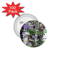 Purple Clematis 1.75  Buttons (100 pack)