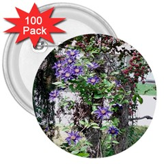 Purple Clematis 3  Buttons (100 pack)