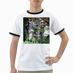 Purple Clematis Ringer T-Shirts