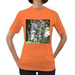 Purple Clematis Women s Dark T-Shirt