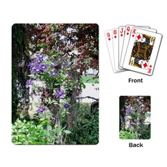 Purple Clematis Playing Card