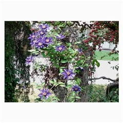 Purple Clematis Large Glasses Cloth