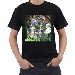 Purple Clematis Men s T-Shirt (Black)