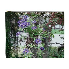 Purple Clematis Cosmetic Bag (XL)