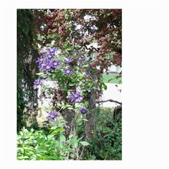 Purple Clematis Small Garden Flag (Two Sides)