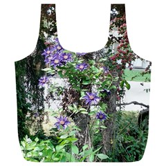 Purple Clematis Full Print Recycle Bags (L)