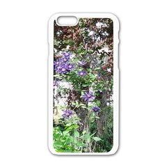 Purple Clematis Apple iPhone 6/6S White Enamel Case