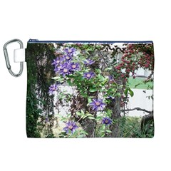 Purple Clematis Canvas Cosmetic Bag (XL)