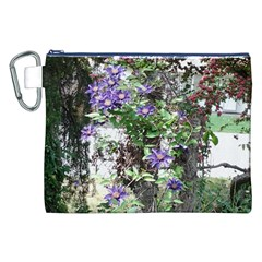 Purple Clematis Canvas Cosmetic Bag (XXL)