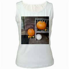 Pumpkins And Gourds Women s White Tank Top