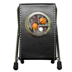 Pumpkins And Gourds Pen Holder Desk Clocks