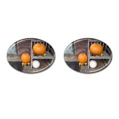 Pumpkins And Gourds Cufflinks (Oval)